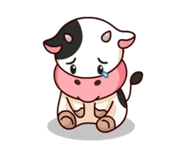 Momo Cow : Animate Sticker sticker #12398803