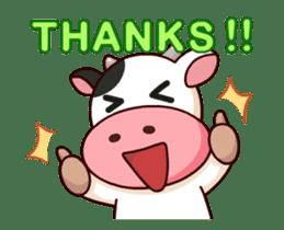 Momo Cow : Animate Sticker sticker #12398808