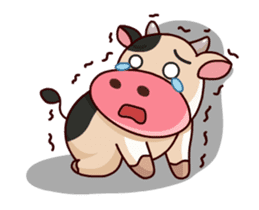 Momo Cow : Animate Sticker sticker #12398811