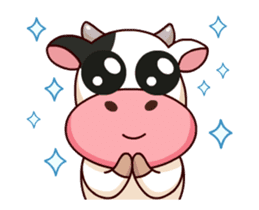 Momo Cow : Animate Sticker sticker #12398813