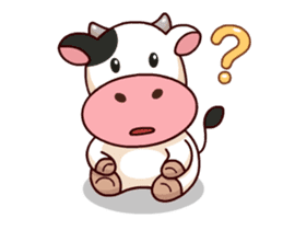 Momo Cow : Animate Sticker sticker #12398818