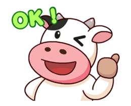 Momo Cow : Animate Sticker sticker #12398821