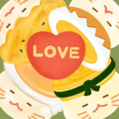 สติ๊กเกอร์ไลน์ Little Eggs Mochi : Love Story