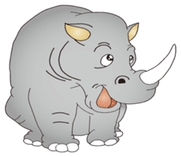 Hustle! Mr.Rhinoceros sticker #12406774
