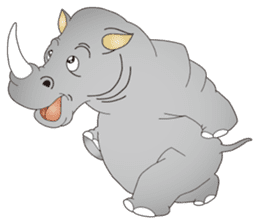 Hustle! Mr.Rhinoceros sticker #12406775