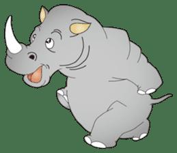 Hustle! Mr.Rhinoceros sticker #12406775