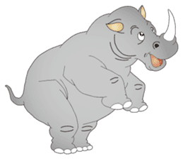 Hustle! Mr.Rhinoceros sticker #12406776
