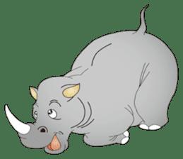 Hustle! Mr.Rhinoceros sticker #12406779