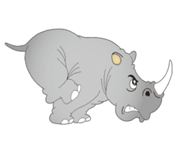 Hustle! Mr.Rhinoceros sticker #12406780