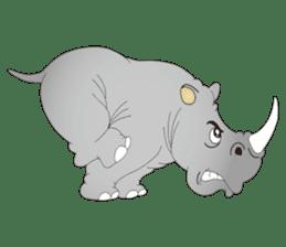 Hustle! Mr.Rhinoceros sticker #12406780