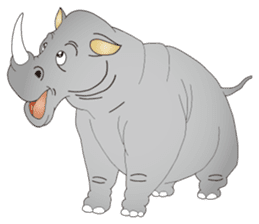 Hustle! Mr.Rhinoceros sticker #12406781