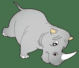 Hustle! Mr.Rhinoceros sticker #12406782