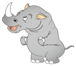 Hustle! Mr.Rhinoceros sticker #12406783