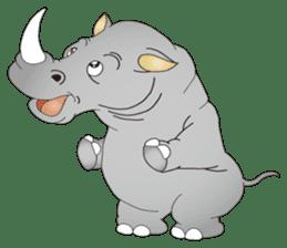Hustle! Mr.Rhinoceros sticker #12406783