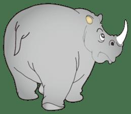 Hustle! Mr.Rhinoceros sticker #12406784