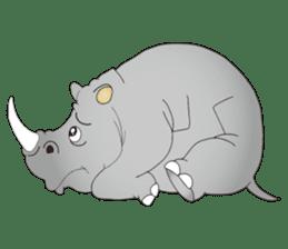 Hustle! Mr.Rhinoceros sticker #12406785