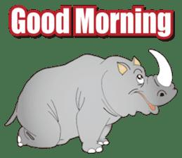 Hustle! Mr.Rhinoceros sticker #12406788