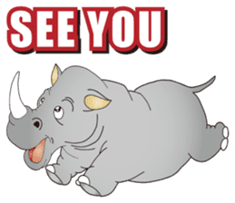 Hustle! Mr.Rhinoceros sticker #12406789