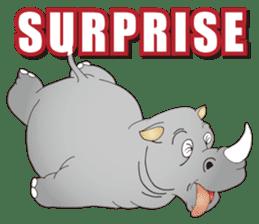 Hustle! Mr.Rhinoceros sticker #12406790