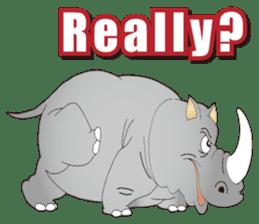 Hustle! Mr.Rhinoceros sticker #12406792