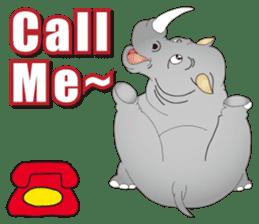 Hustle! Mr.Rhinoceros sticker #12406793