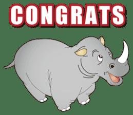 Hustle! Mr.Rhinoceros sticker #12406794