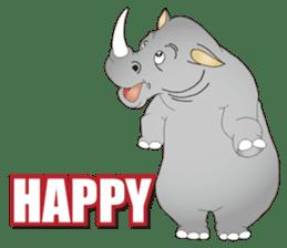 Hustle! Mr.Rhinoceros sticker #12406795