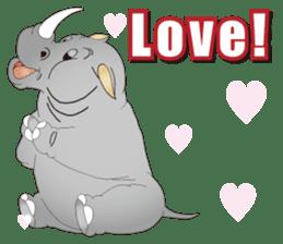 Hustle! Mr.Rhinoceros sticker #12406797