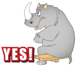 Hustle! Mr.Rhinoceros sticker #12406799