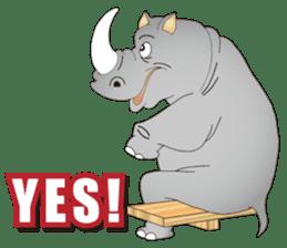 Hustle! Mr.Rhinoceros sticker #12406799