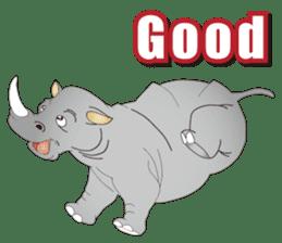 Hustle! Mr.Rhinoceros sticker #12406801