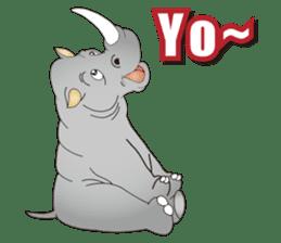 Hustle! Mr.Rhinoceros sticker #12406804