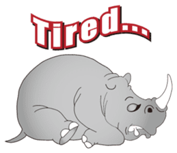 Hustle! Mr.Rhinoceros sticker #12406808