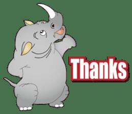 Hustle! Mr.Rhinoceros sticker #12406810