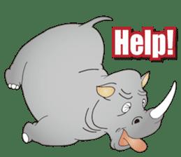 Hustle! Mr.Rhinoceros sticker #12406812