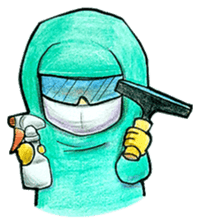Cleanroom Worker sticker #12409550
