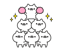 a lot of cute cat animation sticker #12413728