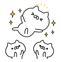 a lot of cute cat animation sticker #12413741