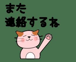 animation sticker of cat 1608B sticker #12417883