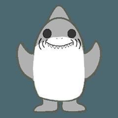 サメのシャークなスタンプ
