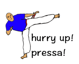 Capoeira Stickers move sticker #12431825