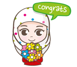 LAILA, Cute Muslim girl Version 2 sticker #12443870