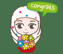 LAILA, Cute Muslim girl Version 2 sticker #12443870