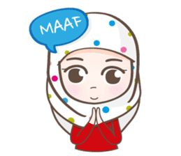 LAILA, Cute Muslim girl Version 2 sticker #12443871