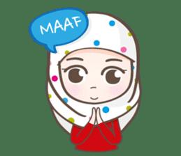 LAILA, Cute Muslim girl Version 2 sticker #12443871