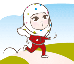 LAILA, Cute Muslim girl Version 2 sticker #12443872