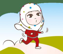 LAILA, Cute Muslim girl Version 2 sticker #12443872