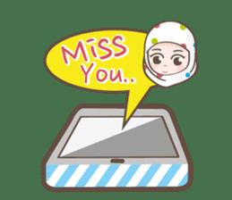 LAILA, Cute Muslim girl Version 2 sticker #12443874