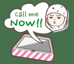 LAILA, Cute Muslim girl Version 2 sticker #12443875