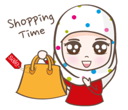 LAILA, Cute Muslim girl Version 2 sticker #12443879